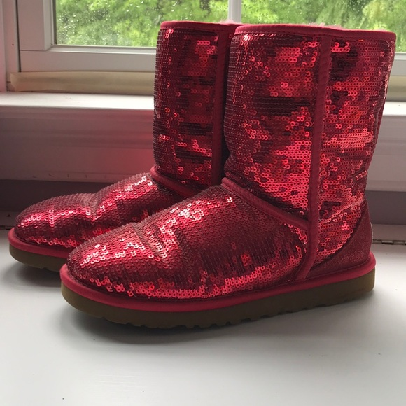 221c052de10 Ruby Red Sequins Uggs